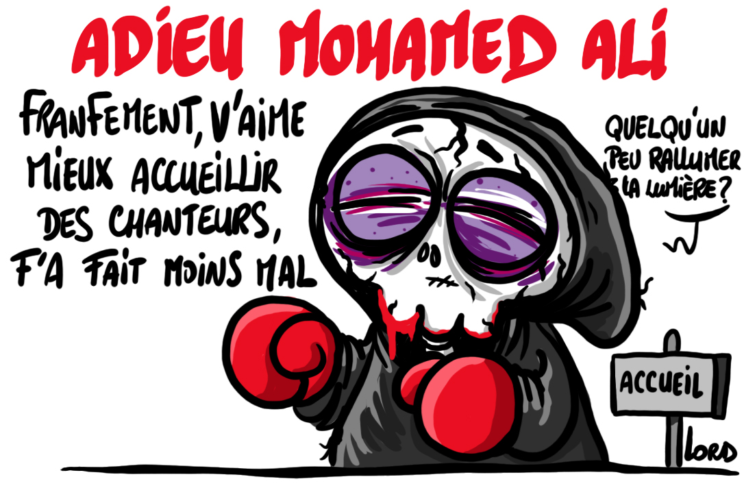 dessin adieu mohamed ali