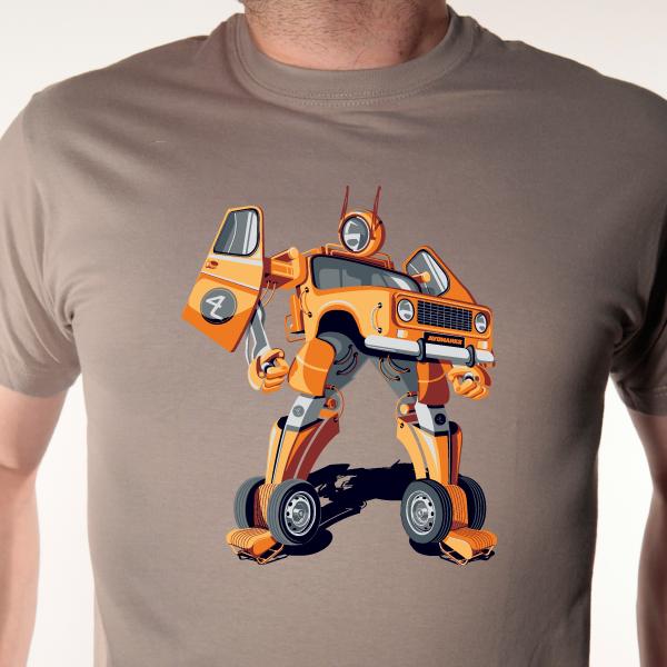 tshirt-4L-parodie-transfomer-taupe