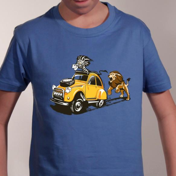 t-shirt-humourenfant-zoo-2CV-safari