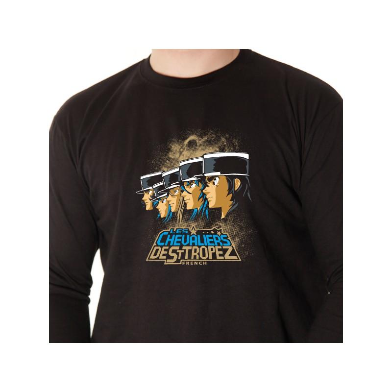 t shirt parodie - les chevaliers de saint tropez