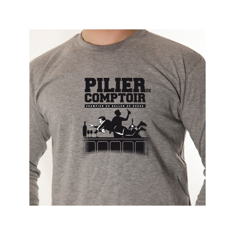 t shirt rugby pilier de comptoir avomarks. Black Bedroom Furniture Sets. Home Design Ideas