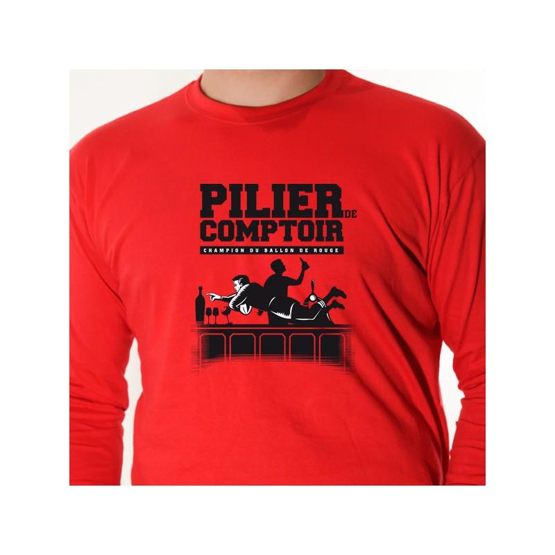 t shirt rugby - pilier de comptoir