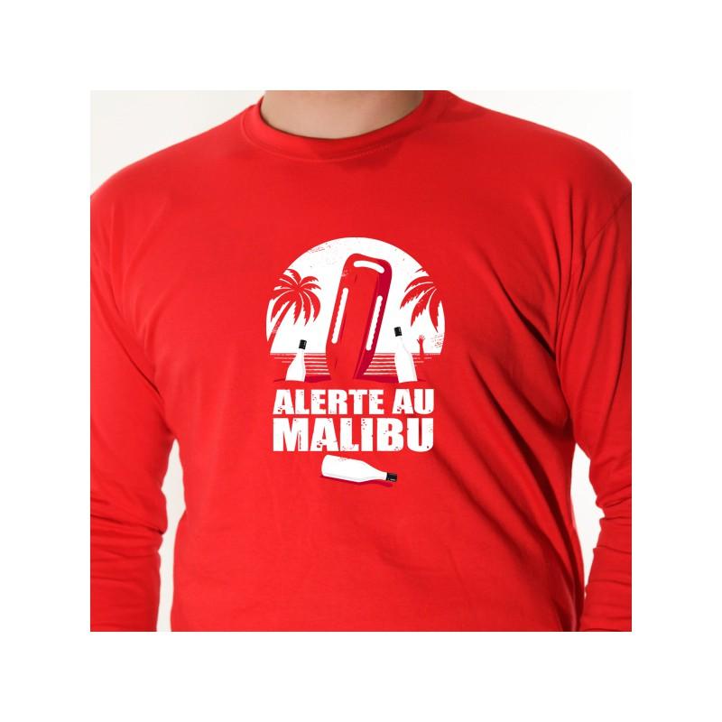 T Alerte Malibu Shirt Parodie À Avomarks 1clFKJ3T