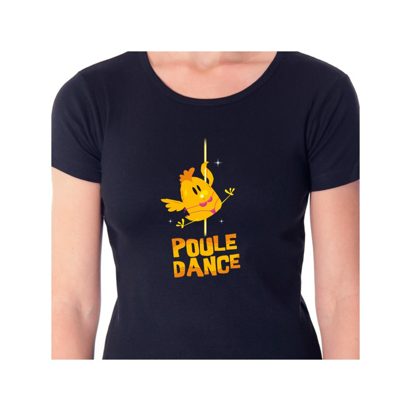 t shirt animaux - poule dance