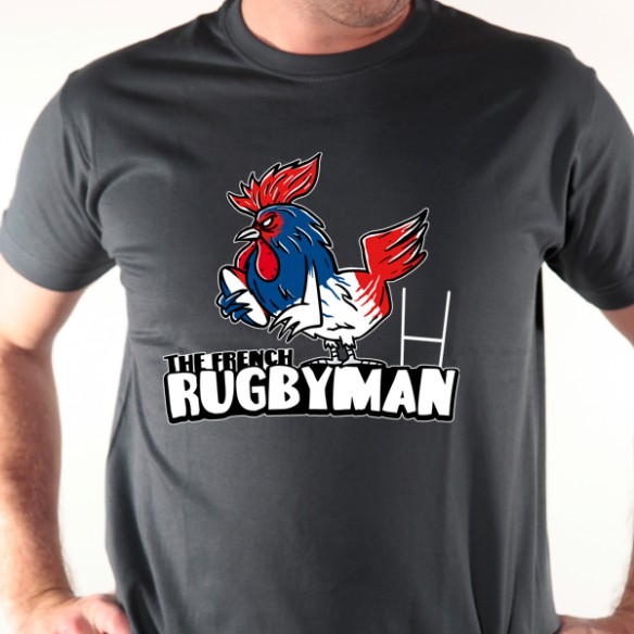 t shirt rugby coq rugby avomarks. Black Bedroom Furniture Sets. Home Design Ideas