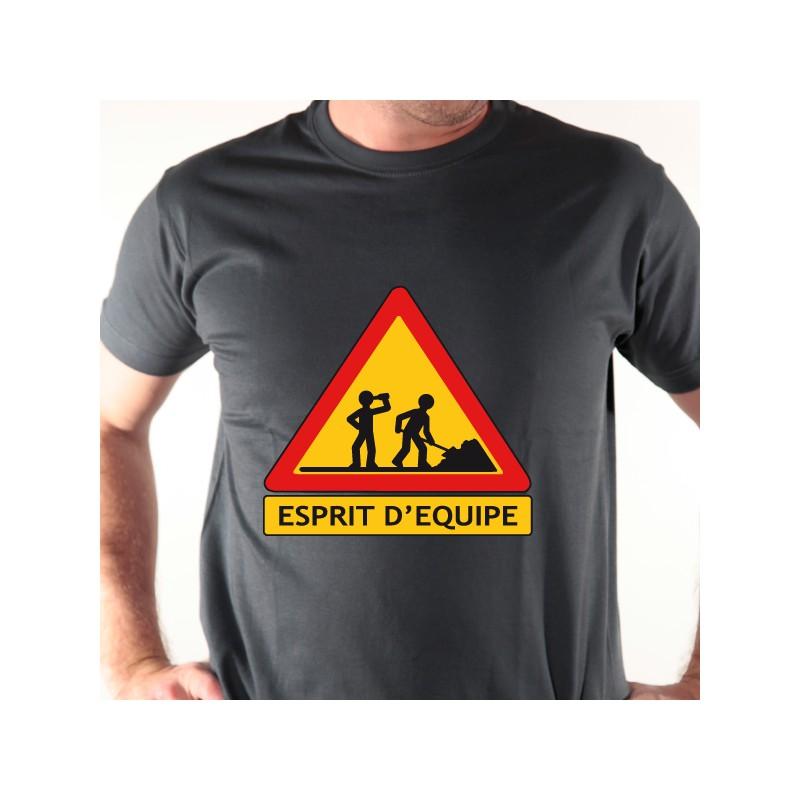 t shirt alcool - esprit d u0026 39  u00e9quipe
