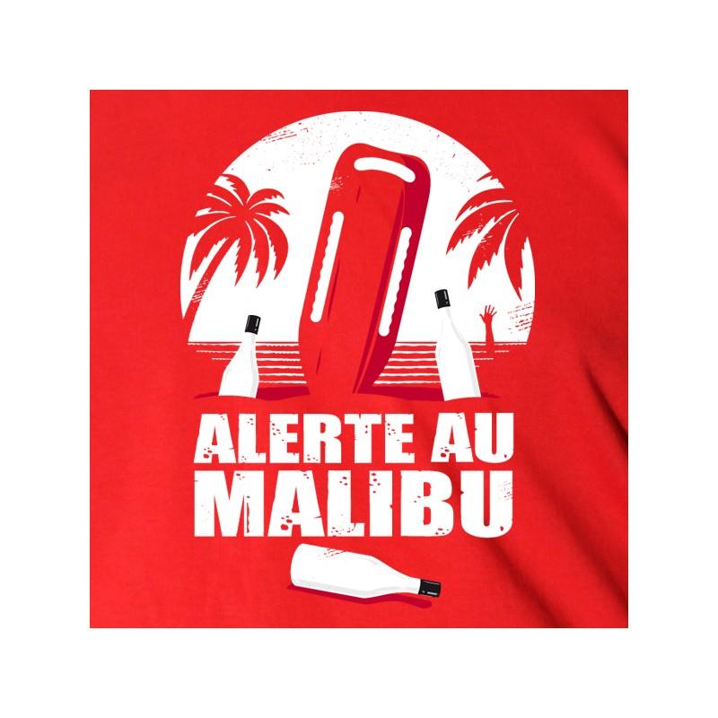 t shirt parodie - alerte  u00e0 malibu