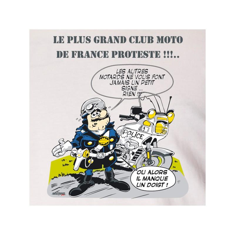 t shirt motard - club de moto