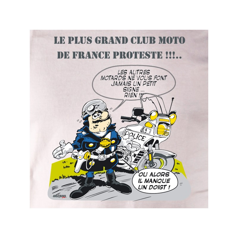 t shirt motard - club de moto