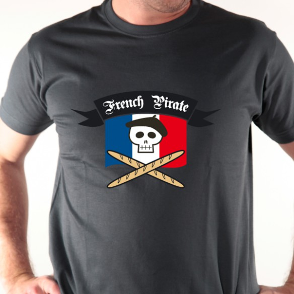 t shirt paris french pirate avomarks. Black Bedroom Furniture Sets. Home Design Ideas