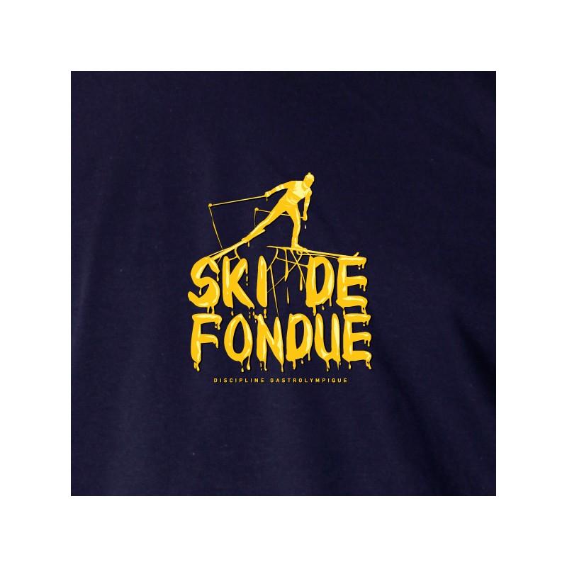 t shirt les alpes - ski de fondue
