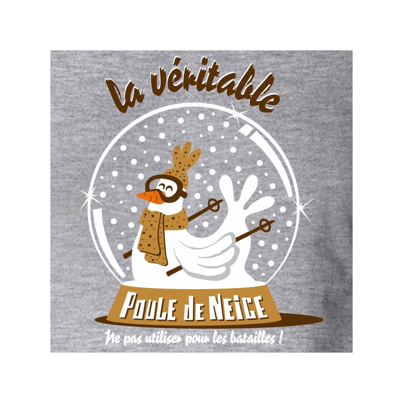 t shirt les alpes - la poule de neige