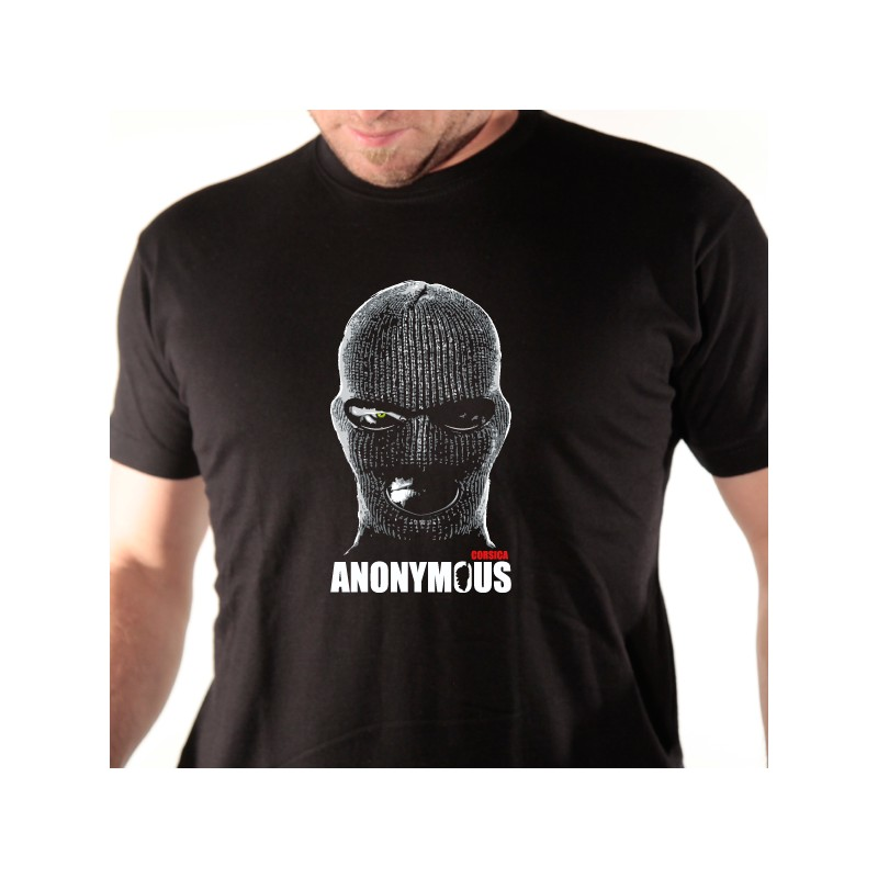 t shirt corse - anonymous
