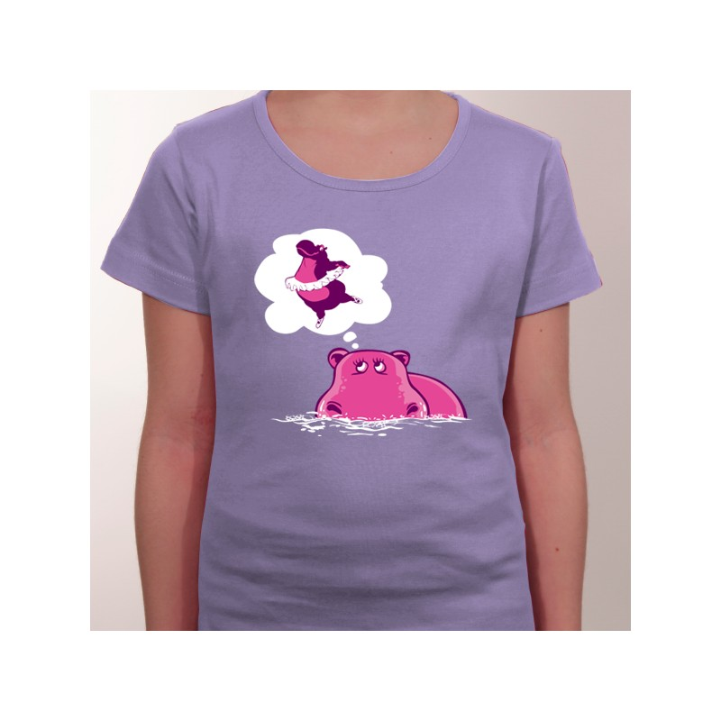 tshirt hippo qui danse