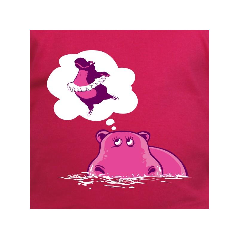 t shirt animaux - hippo danse