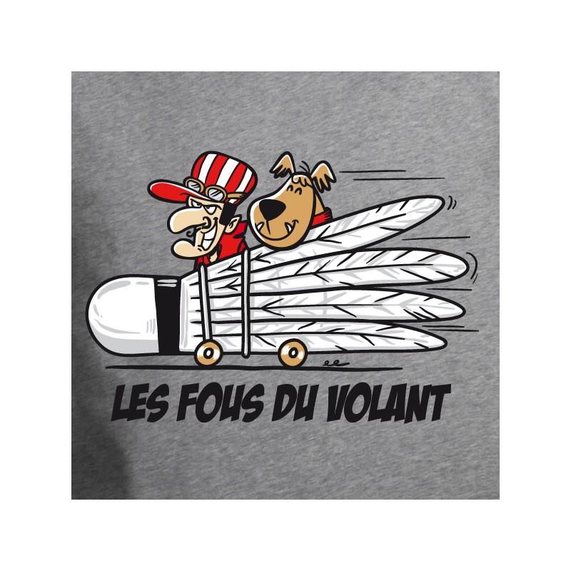 t shirt badminton - les fous du volant