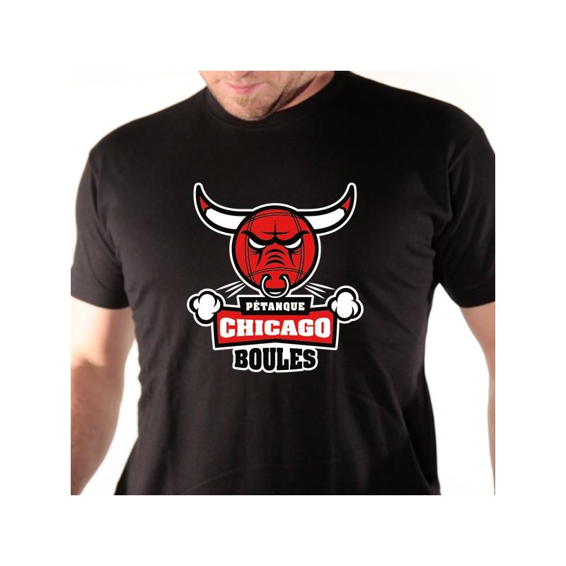 t shirt p u00e9tanque - chicago boules