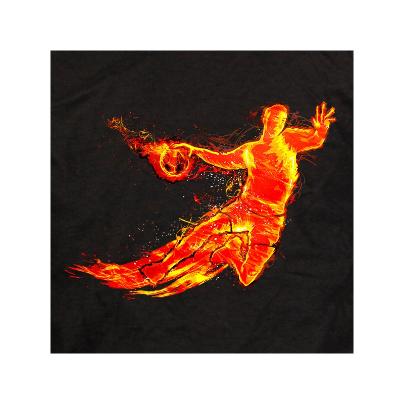 t shirt handball - hand on fire