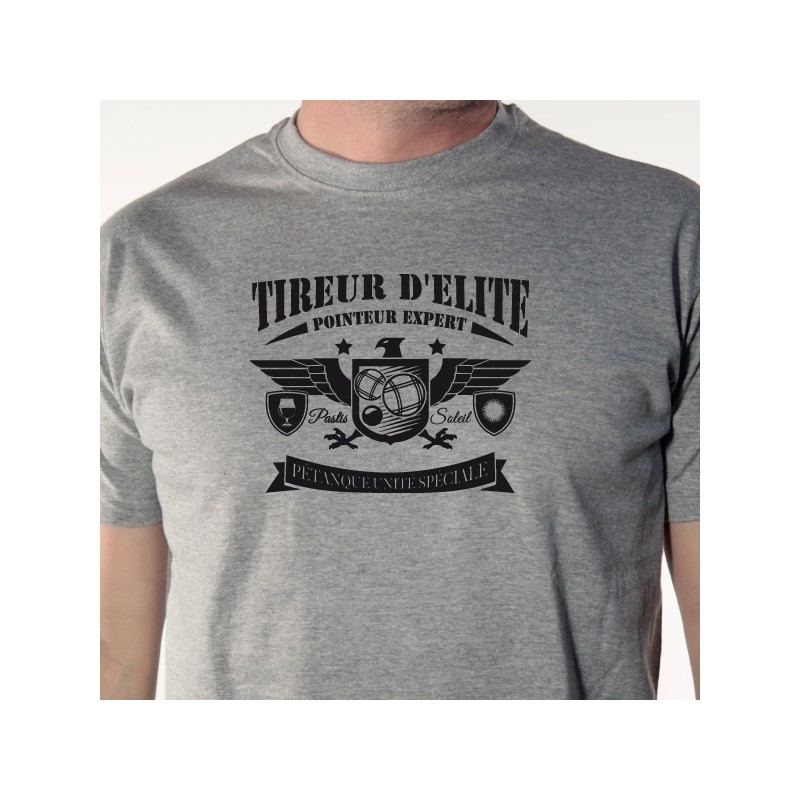 t shirt p u00e9tanque - tireur d u0026 39 elite