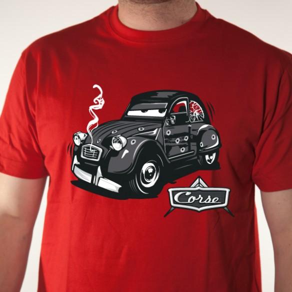 t shirt 2cv corse - tee shirt personnalis u00e9 corse