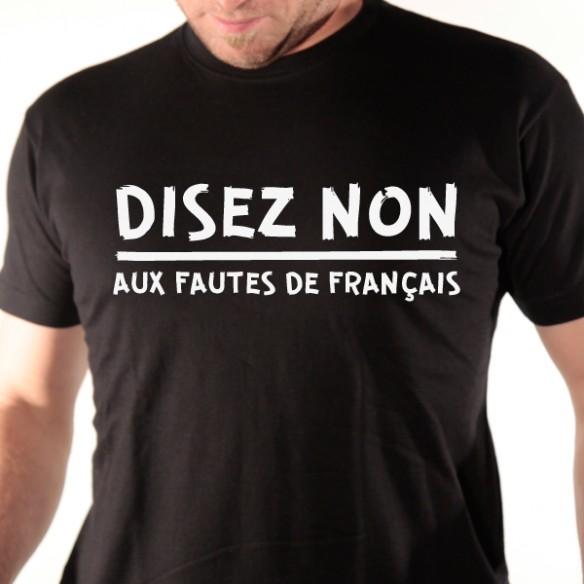 Bien-aimé tee shirt disez non - T shirt message humour - avomarks YN77