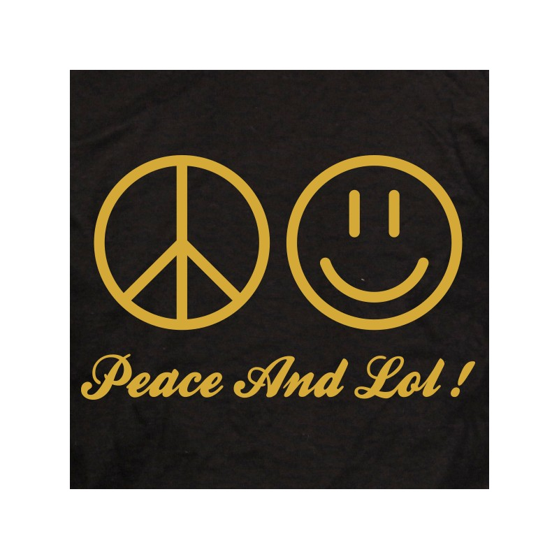 t shirt coup de coeur - peace and lol