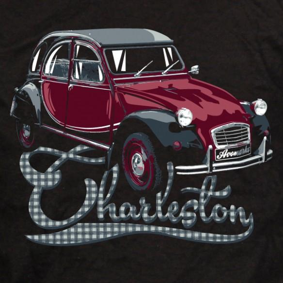 t shirt 2 cv charleston - tee shirt humour 2 cv