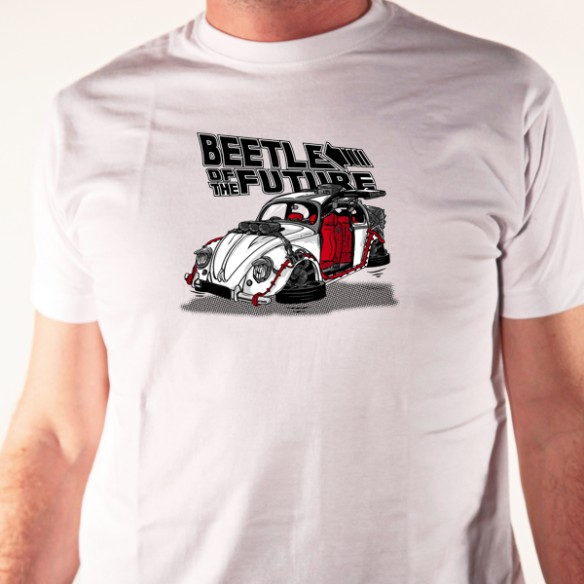 5328490c989a T shirt voiture coccinelle - beetle of the future