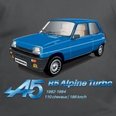 R5 Alpine turbo - t-shirt auto