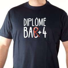BAC + 4 t shirt alcool humour