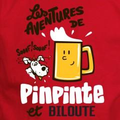 Pinpinte et Biloute - t shirt humour alcool