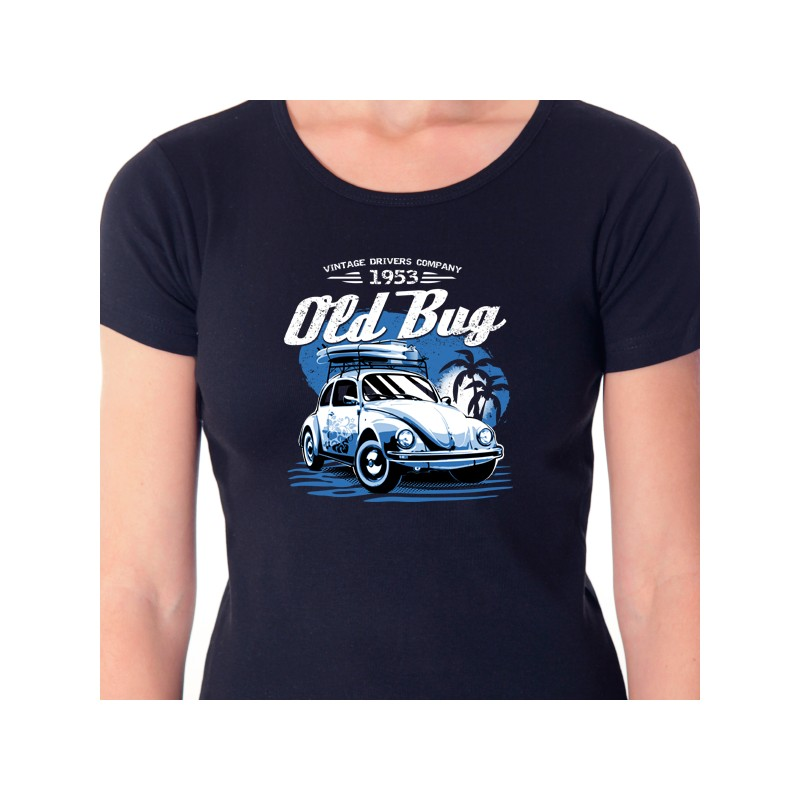 58b79274cf0b T shirt voiture coccinelle - Old bug cox - Avomarks