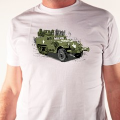 T shirt véhicule militaire - Half track - Avomarks