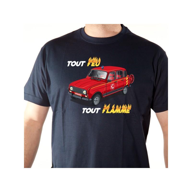 t shirt 4l - 4l des pompiers