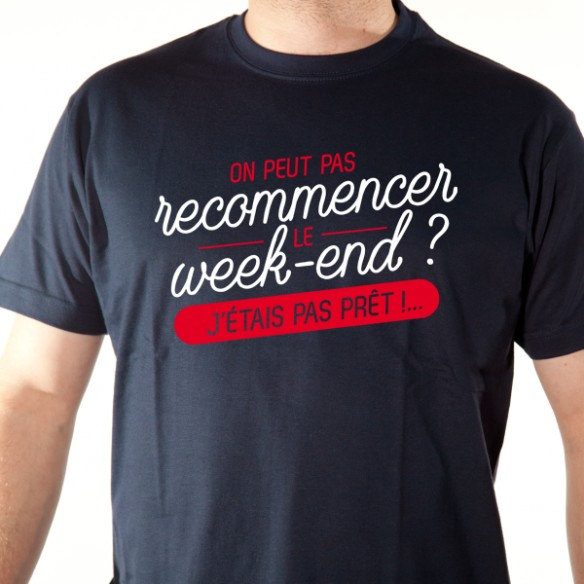 T shirt phrase humoristique - J'étais pas
