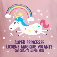 t-shirt humour Super princesse licorne