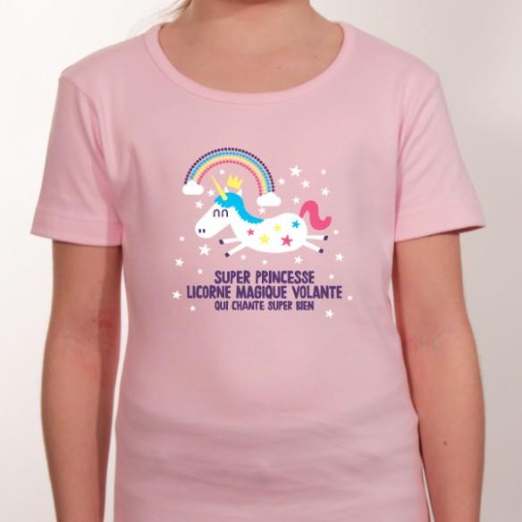 T shirt humour personnalisé - super princesse
