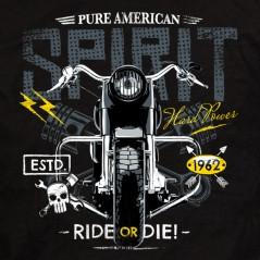 t-shirt moto Pure American spririt