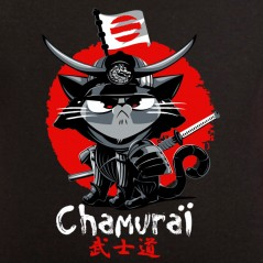 t-shirt animaux chat Chamuraï