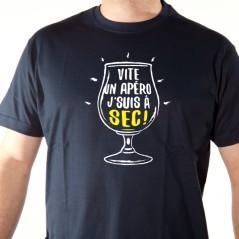 t-shirt humour alcool - Je suis à sec - Avomarks