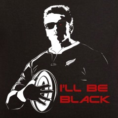 T shirt rugby - I'll be black