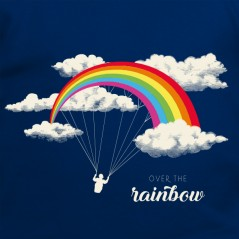 t-shirt parapente - Over the rainbow