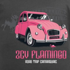 t-shirt auto - 2 CV Flamingo