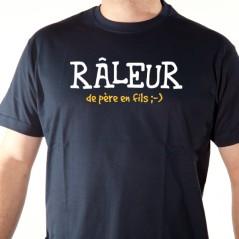 t shirt phrase humoristique - Râleur de père en fils