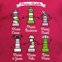 t shirt Bretagne - Phares Andoles