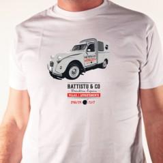 t shirt 2 CV Corse démolition