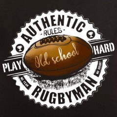 t-shirt rugby - Play hard - Avomarks