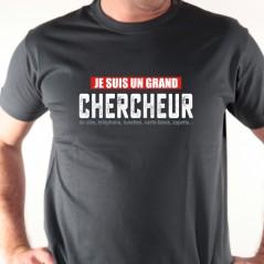 t shirt humour - Je suis chercheur