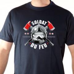 t-shirt Soldat du feu