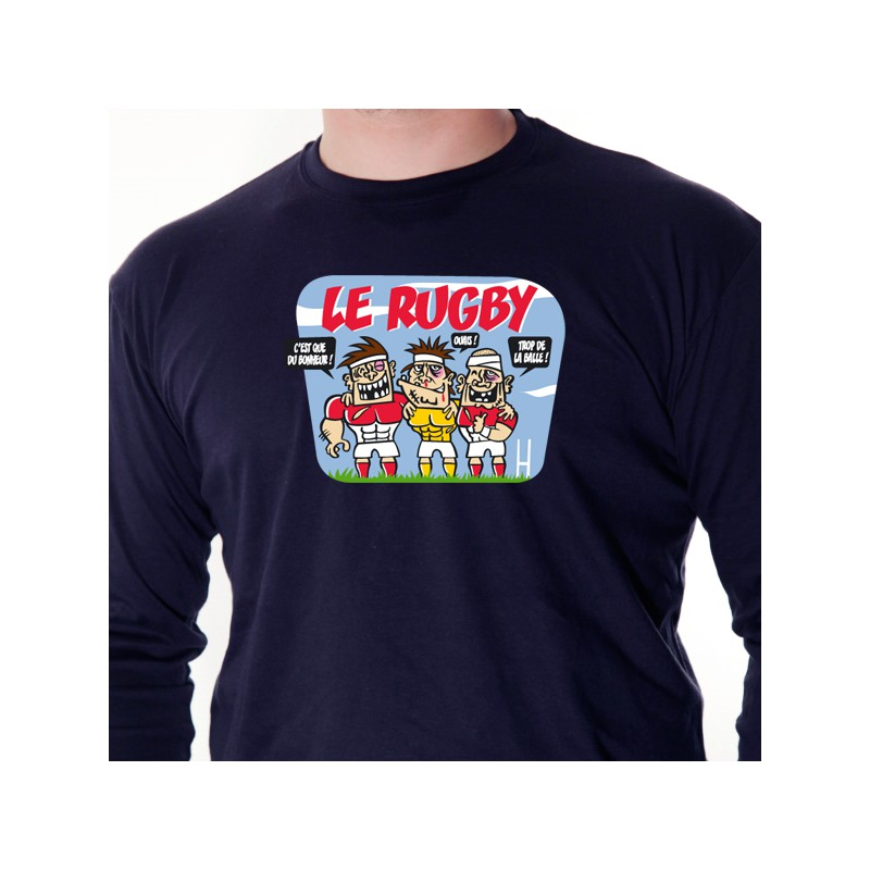 t shirt rugby rugby triple avomarks. Black Bedroom Furniture Sets. Home Design Ideas